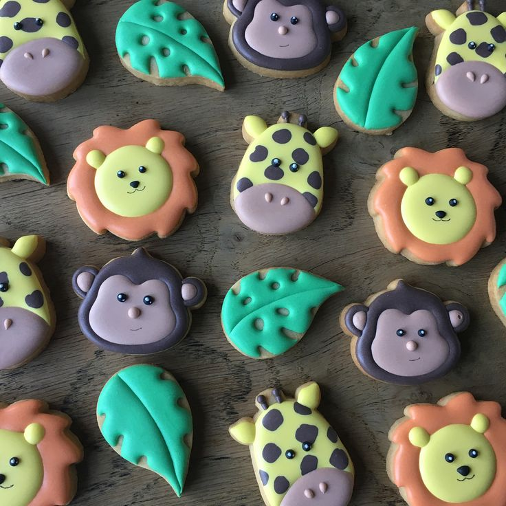 72 vind-ik-leuks, 4 reacties - Jillbeesz (@jillbeesz) op Instagram: 'Mini safari cookies  #decoratedcookies #royalicing #safari #monkeycookies #lioncookies…'