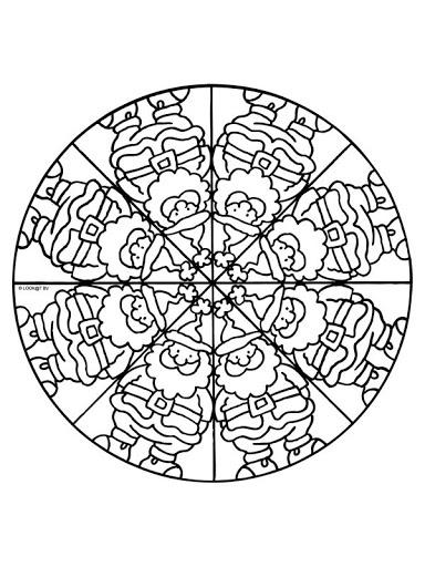 NADAL mandalas - petitmón 1 - Álbumes web de Picasa: Mandalas Infantiles, Coloringpages, Christmas Coloring Fun, Mandala Coloring Pages, Mandalas, Coloring Pages Mandala