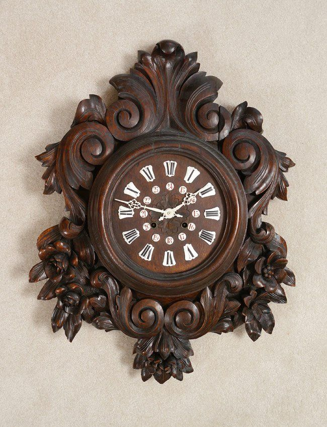 black froest craving | CARVED BLACK FOREST WALL CLOCK