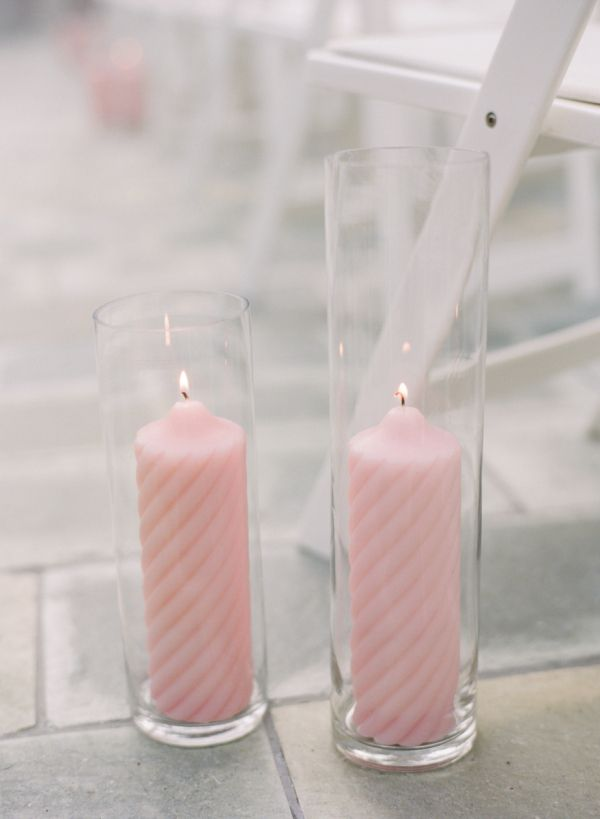Pale Pink Candle Aisle Decor | Wedding, Girls and Centerpieces