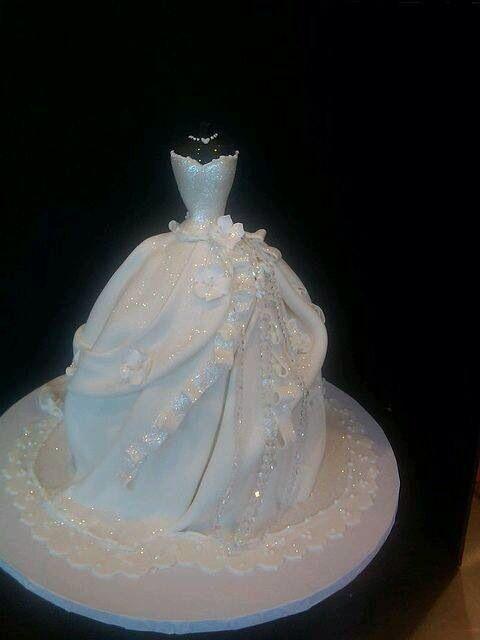 Wedding dress cake!
