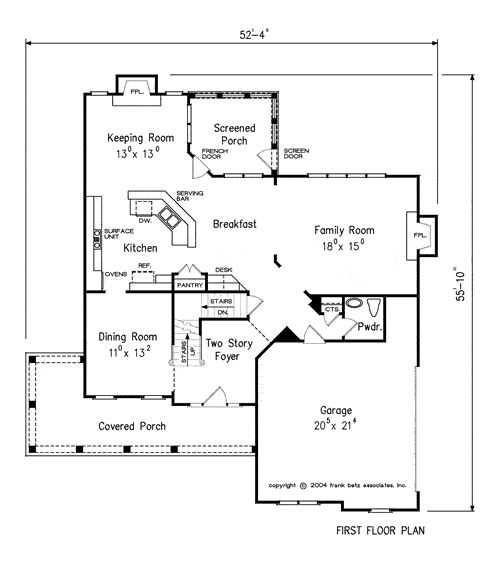 The Culbertson House Plans First Floor Plan House Plans
