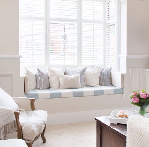 Bay Windows with either a built- in seat or 2 wing chairs