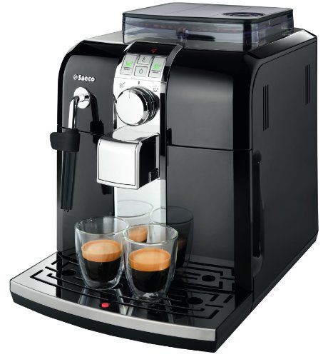 Saeco Focus  Automatic Espresso Machine by Saeco. $889.50. Front access to all features allows you to add beans and water and clean the machine without ever having to pull it out from under your cabinets. Features water filtration, and air-tight and UV protected coffee bean hopper as well as sound insulating technology. Short or long coffee with one touch, your favorite drink preferences are easily stored with the memo option. Adjustable built-in ceramic disc grinde...