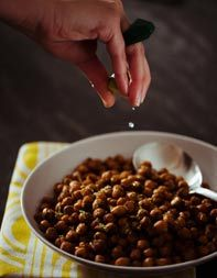 Cinnamon, Cumin and Brown Sugar Roasted Chickpeas  Recipe from the Tasting Table Test Kitchen