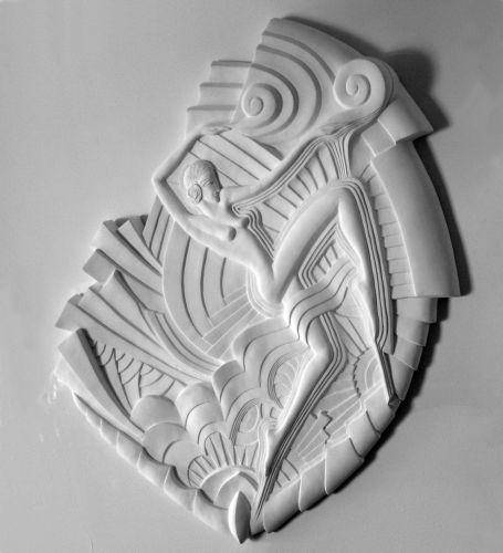 Art deco bas relief sculpture seront num rot s et ne d passeront pas le nom - Deco relief catalogue ...