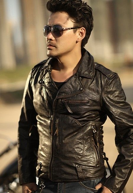 Find More Leather & Suede Information about Free Shipping 2015 New Men Leather Jacket Brown Vintage Turn down Collar 100% Genuine Cow Skin Leather Men Motorcycle Coat,High Quality coated wire,China coat discount Suppliers, Cheap motorcycle helmet open face from Ye Leather World on Aliexpress.com