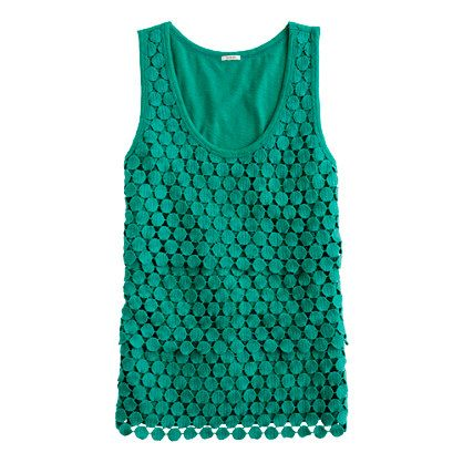 Tiered dot tank from J.Crew