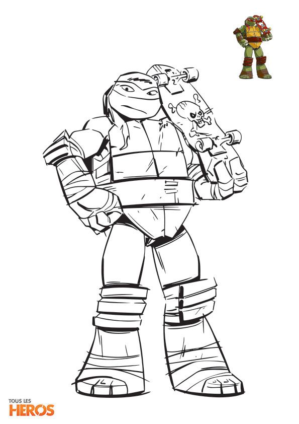 Coloriez les #TortuesNinja les #tortues les plus délirants ! #coloriage sur www.tous-les-heros.com !