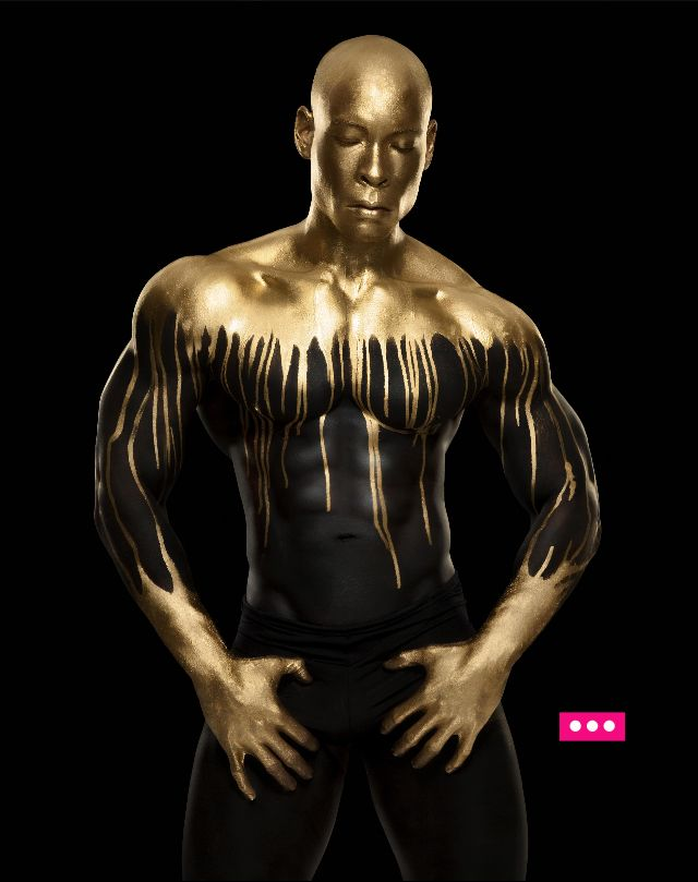Japanisches Gold Bodypaint Sex
