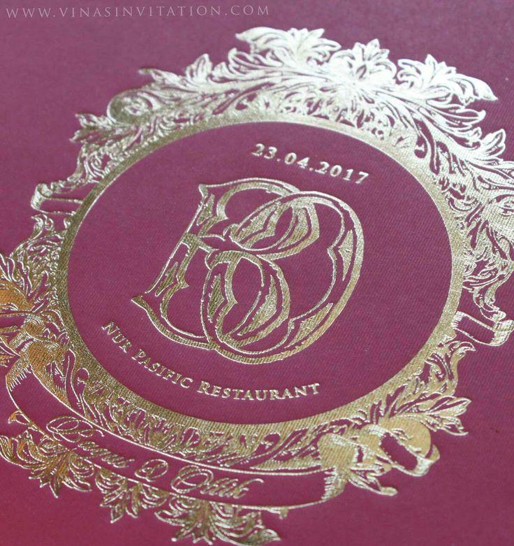 Vinas invitation. Gold pink theme. Invitation wedding. Indonesian wedding . Simple ribbon. Custom wedding invitation. Shockingpink . Gold background. Simple elegant. Classic invitation. Any question pls visit www.vinasinvitation.com . Courtesy of Bagus and Ollik