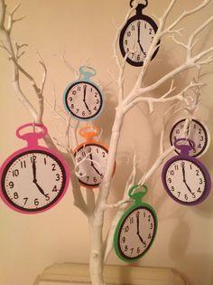 Image result for tarjetas de relojes de alicia en el pais de las maravillas