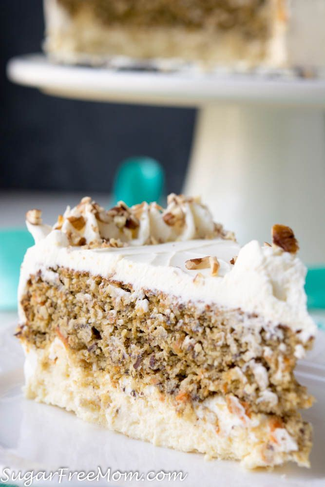 Low Carb Carrot Cake Cheesecake (Nut Free, Gluten Free) Keto Atkins THM