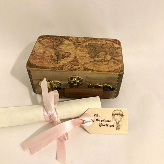 Travel Theme Wedding Ring Box World Map And Wedding Location Etsy Wedding Ring Box Travel Theme Wedding Ring Box