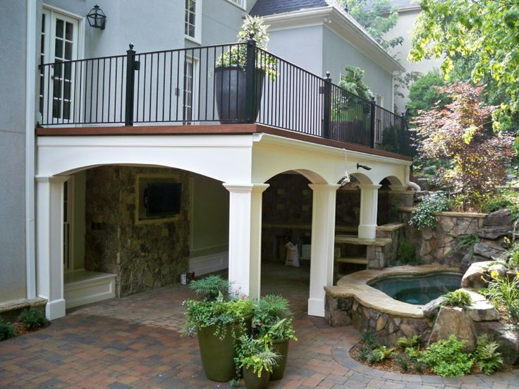 17 best images about patio cover balcony on pinterest covered patios porch and patio and decks - Corner pond ideas ...