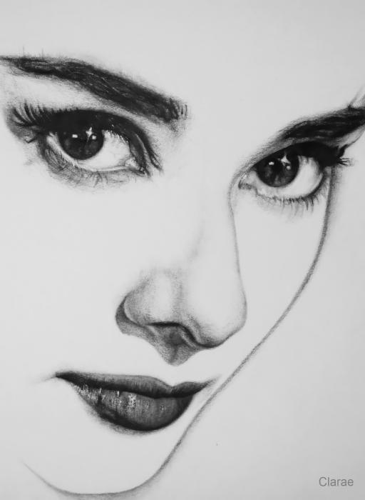 Audrey Hepburn  Painting, Portrait, Pencil, Paper, 10x13x0cm, 2012.: