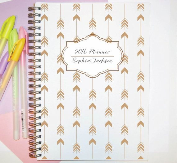 2016 Student Planner 2016 Weekly Planner Custom by SimplyNotebooks