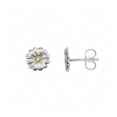 Thomas Sabo sterling silver 'Sweet Diamond' flower stud earrings