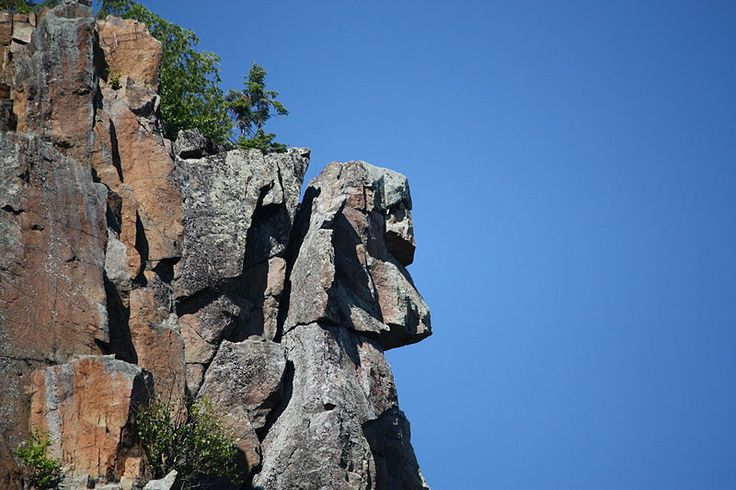 Devil's Rock Face Natural formation, located in Northern Ontario, Canada near Temiskaming Shores.