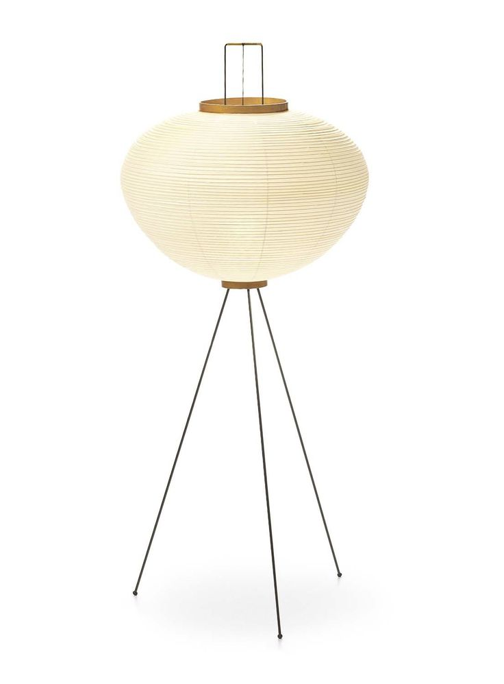 Lampe sur pied design en papier par Isamu Noguchi AKARI : 10A