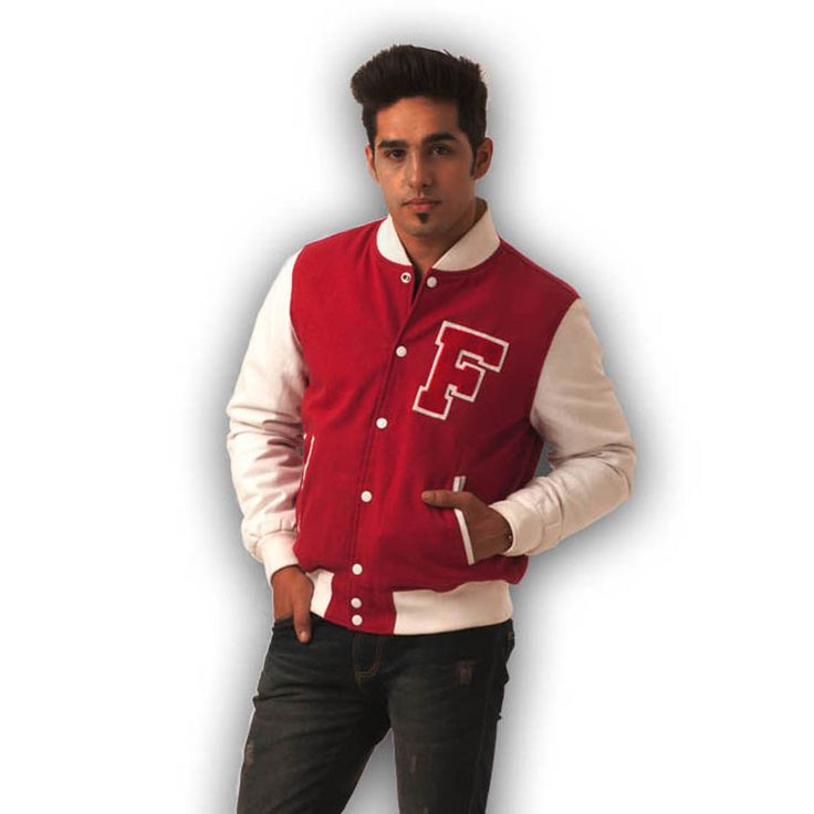 Light Weight Scarlet Cotton Varsity Jacket, Light Weight Scarlet Cotton  Varsity Jacket, Wool Body and Leather Sleeves Jackets, worldwide.