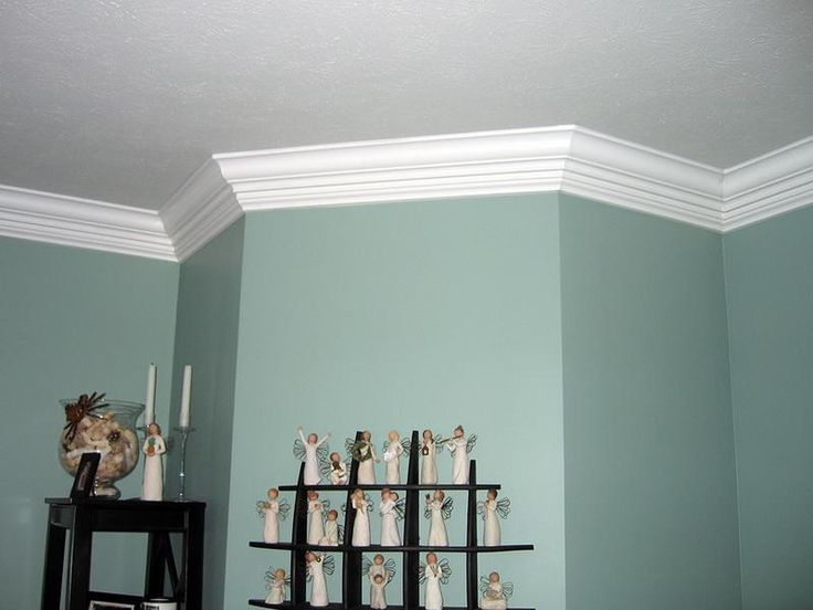 Minimalist DIY How To Cut Crown Molding DIY Crown Molding With Blue Wall gamesbadge - Contemporary crown molding joints In 2018