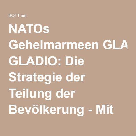 NATOs Geheimarmeen GLADIO: Die Strategie der Teilung der Bevölkerung - Mit der Angst vor dem Islam -- Puppenspieler -- Sott.net