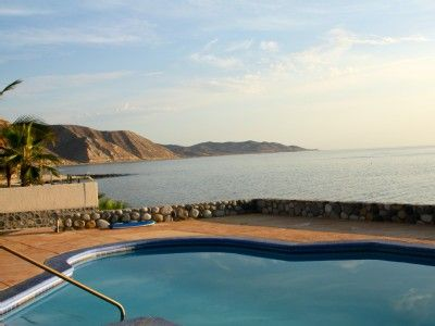 Los Barriles house rental  Casa de los Tortugas- Private pool and north view of Sea of Cortez towards Punta Pescadro
