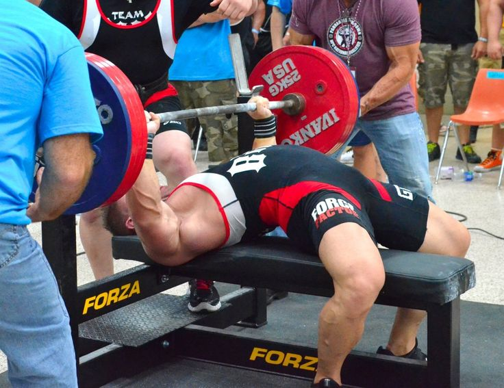 The Bench Press is undoubtedly the most well known barbell exercise of them all, and has become the standard test in upper body strength. This compound movement allows the lifter to move heavy weights through a range of motion, and is arguably the best upper body strength and size building exercise one can do. The Bench Press is used in competition at Powerlifting meets along with the Squat and Deadlift.