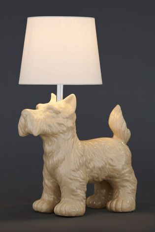 thentique bulldog round off products dog linen othentique lamp table driftwood beige o hand wooden handmade carved shade