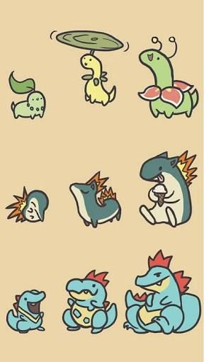 Image Result For Wallpaper Whatsapp Cute Starters Pokemon Pokémon