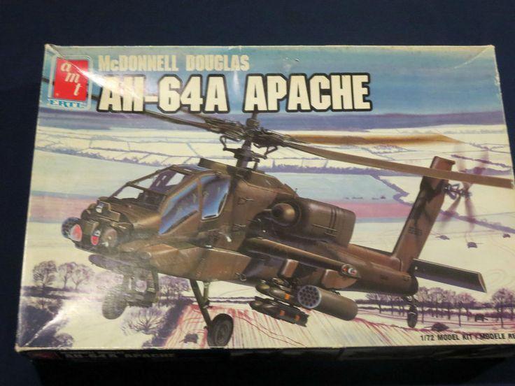 "AMT ERTL # 8851 McDonnell Douglas AH-64A ""APACHE"" U.S.ARMY Chopper 1:72  Kit #AMTErtl"