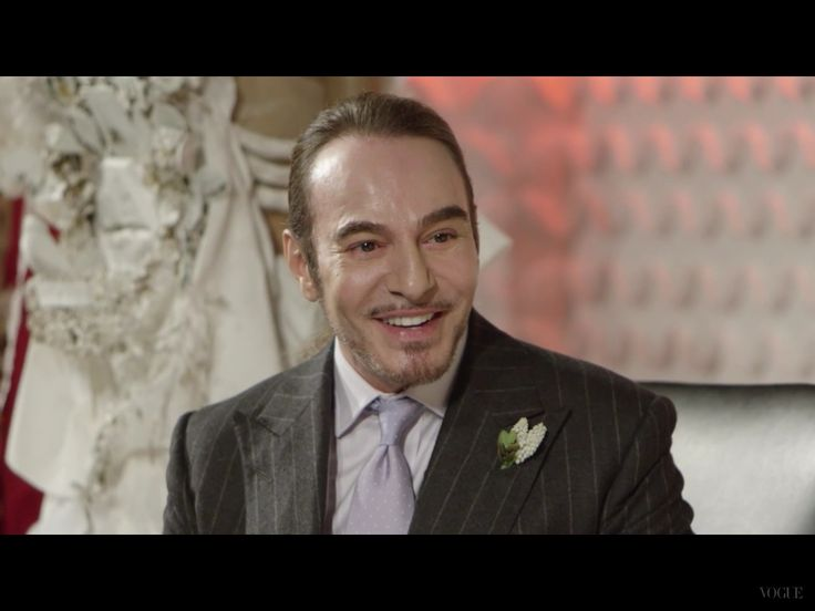 """John Galliano at the Vogue Festival, """"Master Of Couture""""  talk with Alexandra Shulman ,26 April 2015 ,London"""