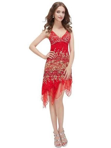 MILLY 20's Gatsby Lace Flapper Dress - Red - Belle Boutique UK