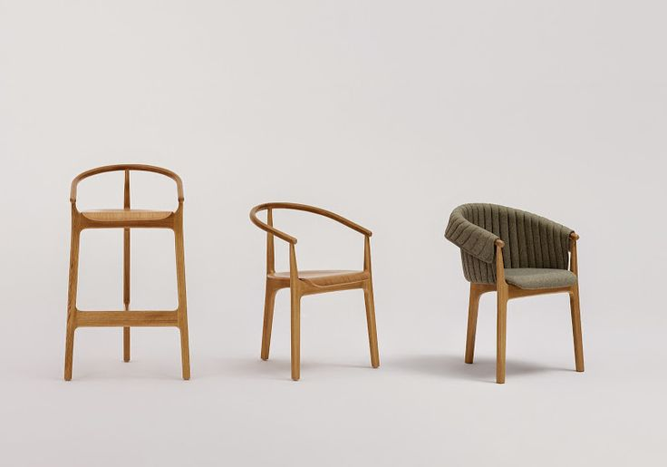 EVO is a project inspired by tradition. The starting point was the Thonet chair model from the end of the 19th century. The bent backrest and unusual placement of legs became an inspiration for the current project. The number of legs was reduced during the design process, which resulted in a fresh form. The furniture's distinguishing features are lightness and minimalism.