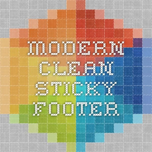 Modern Clean Sticky Footer