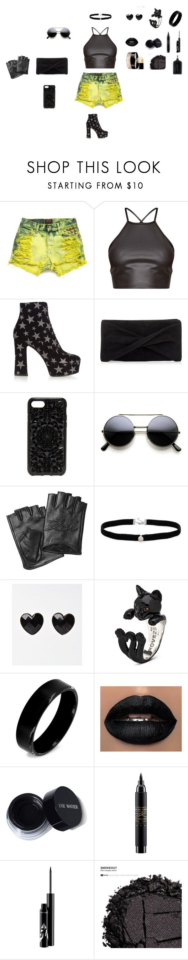 """""""Party city"""" by sierracook14 ❤ liked on Polyvore featuring Yves Saint Laurent, Reiss, Felony Case, Karl Lagerfeld, Amanda Rose Collection, West Coast Jewelry, MAC Cosmetics, Chanel, Urban Decay and Boris Bidjan Saberi"""