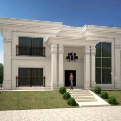 CASA NEOCLASSICA MODERNA: Casas Moderno por TRAÇO FINAL ARQUITETURA E INTERIORES