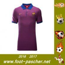 La Liga : Polo Du FC Barcelone Pourpre Saisson 2016 2017 Thailande Pas Chere