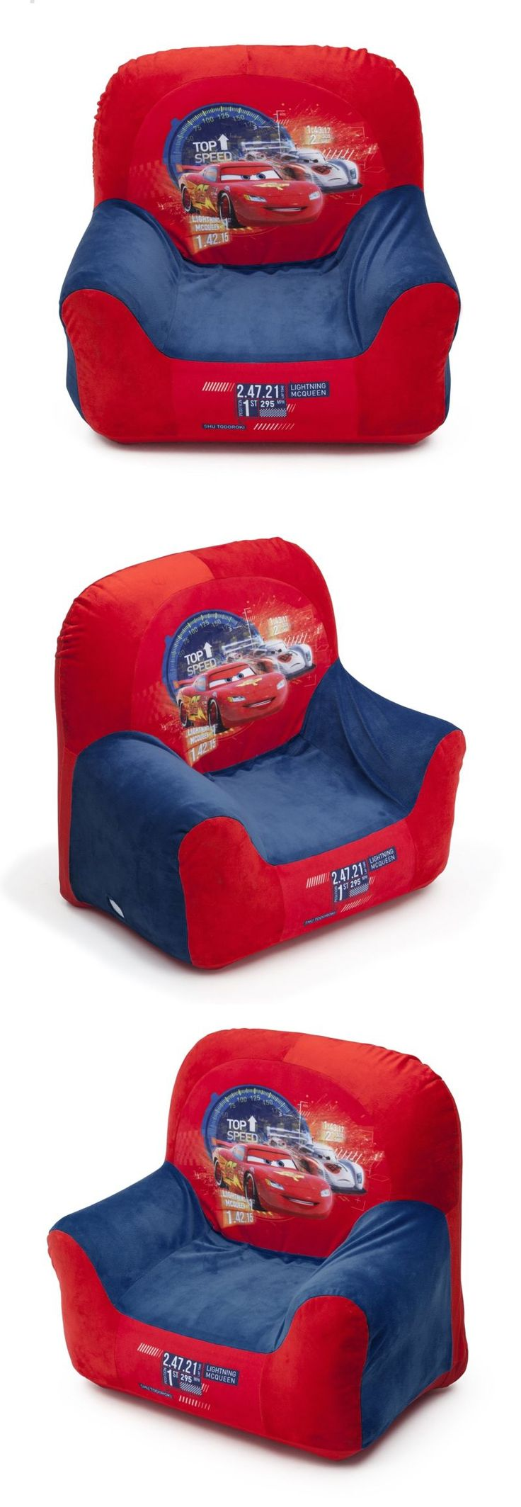 Kids Furniture: Disney Car Club Chair For Kids Toddler Furniture Baby Comfortable Seat Chairs -> BUY IT NOW ONLY: $19.49 on eBay!