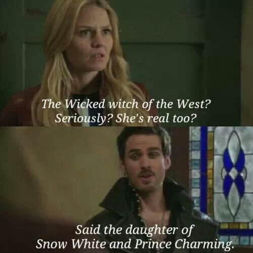Once Upon A Time Hook and Emma talk about The Wizard of Oz's wicked witch of the West.
