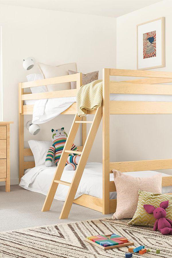 Waverly Kids Mini Wood Bunk Bed Modern Bunk Beds Loft Beds