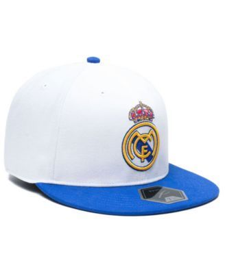 Fan Ink Real Madrid Fi Fitted Cap - White/Blue 7 3/4