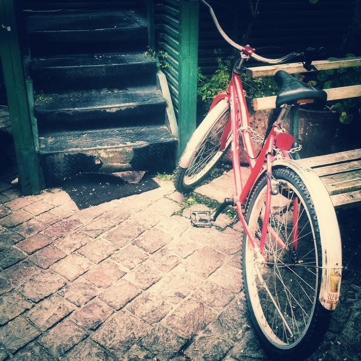 En el barrio Lastarria #bicicleta #santiago