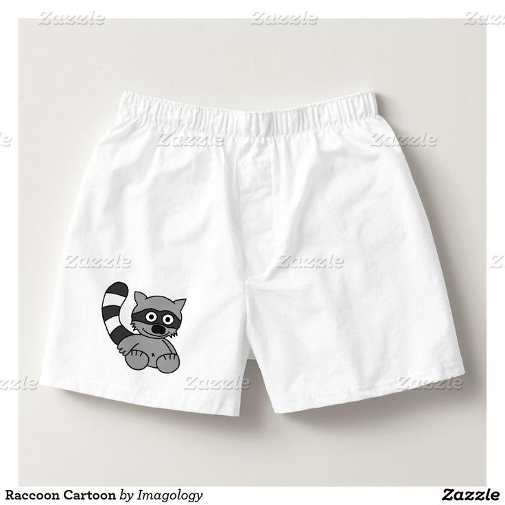 Raccoon Cartoon Boxers