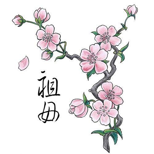 Peach Blossom Tattoo inspiration | Tattoos | Pinterest ...