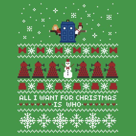 timey wimey christmas sweater card by rydiachacha
