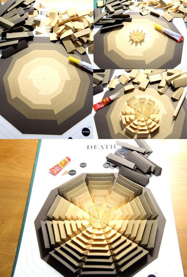 Pattern Matters 3D Infographics / handmade data visualization