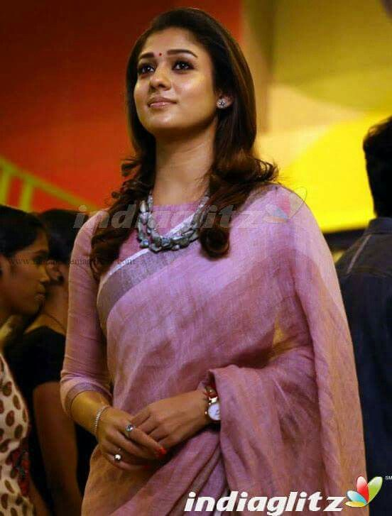 nayanthara in simple cotton saree