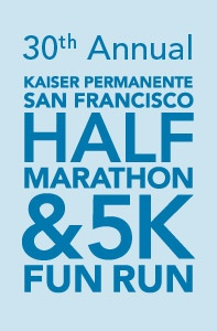 30th Annual Kaiser Permanente San Francisco Half Marathon. Running this 1/2 tomorrow.